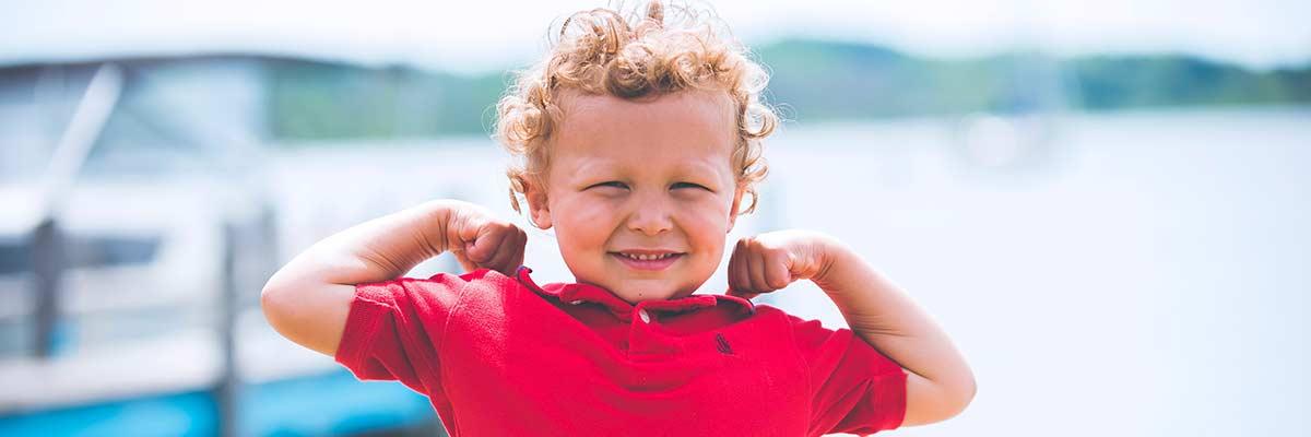 Bambino sorridendo